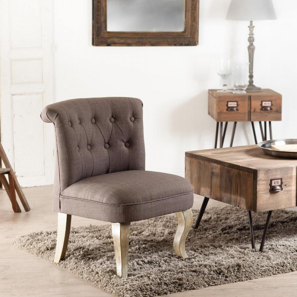 fauteuil crapaud tissu velours capitonn style baroque pieds bois danny. Black Bedroom Furniture Sets. Home Design Ideas