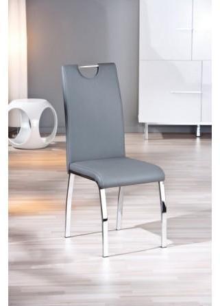 Lot de 2 chaises design grises