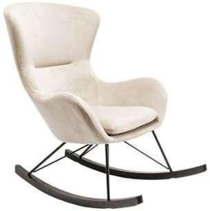Rocking-chair tissu écru Ivar