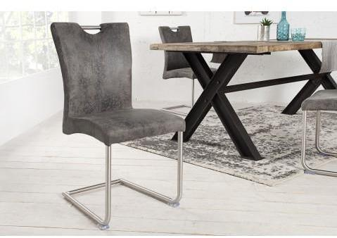 Chaise design Buffalo gris