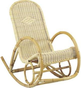 Rocking-chair en rotin coloris