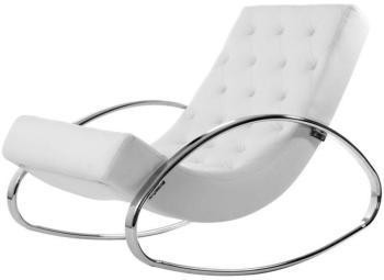 Fauteuil design blanc rocking