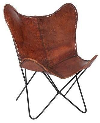 Chaise Lounge Butterfly cuir