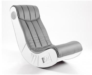 Fauteuil design gris blanc