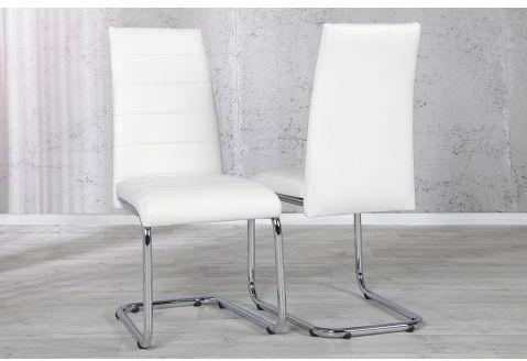 Chaise design en simili cuir