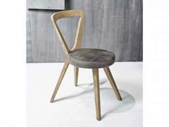 Chaise design en bois de noyer