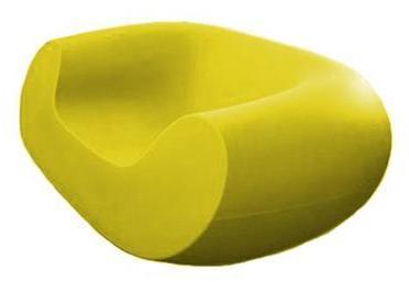 SLIDE fauteuil CHUBBY (Jaune