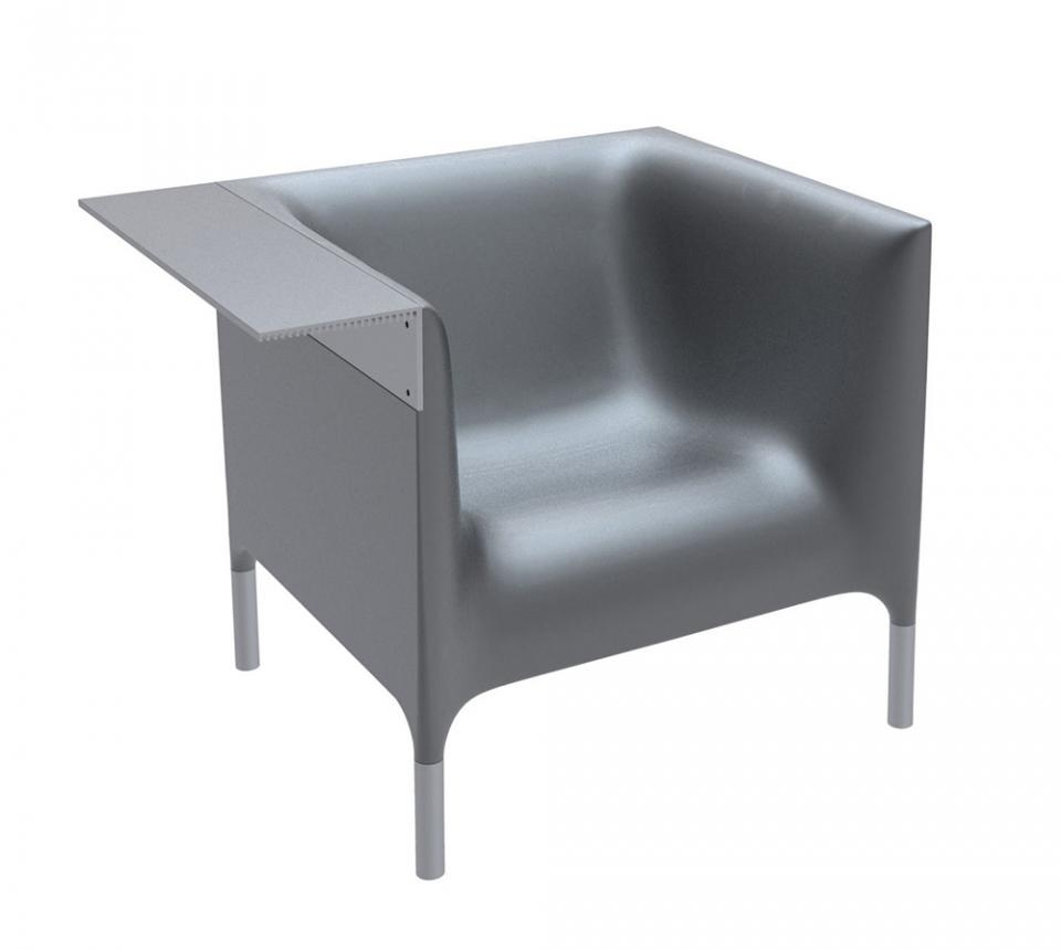 DRIADE fauteuil OUT IN (Argent