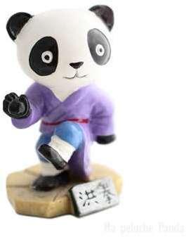 Figurine Panda violet