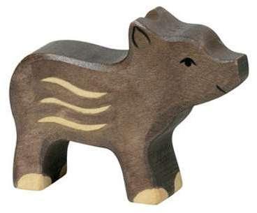 Marcassin en bois figurine