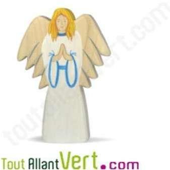 Figurine de l ange en bois