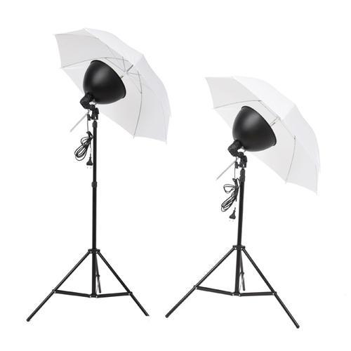 VidaXL Kit studio 2 lampes