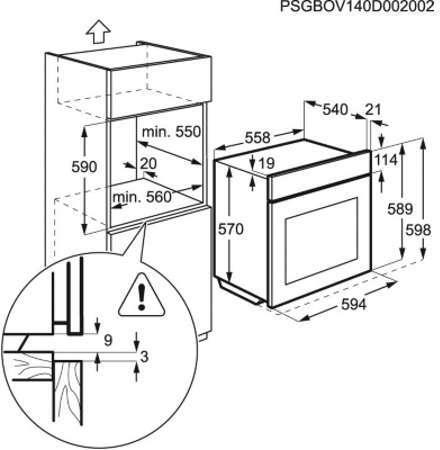Four encastrable faure fop27008bk - Faure four multifonction pyrolyse fop27001xa ...