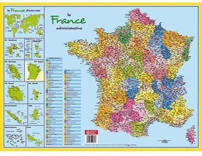 Sous main carte de France