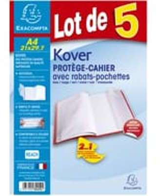 Clairefontaine cprotge cahier a4 incolore cristal - Protege cahier avec rabat ...