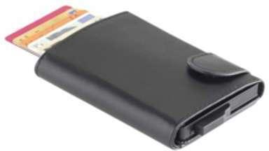 hama etui cuir portefeuille noir pour iphone 4. Black Bedroom Furniture Sets. Home Design Ideas
