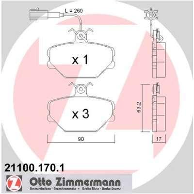 Pneu ZIMMERMANN - Kit de plaquettes