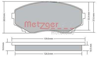 Pneu METZGER - Kit de plaquettes