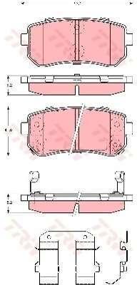 Pneu TRW - Kit de plaquettes