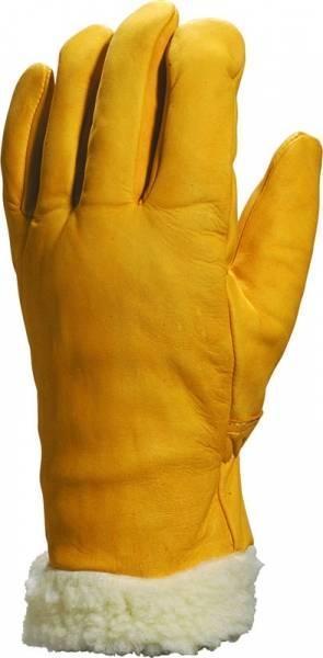 Gant fourré d hiver cuir vachette