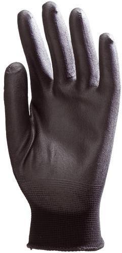 Gant enduit polyamide noir