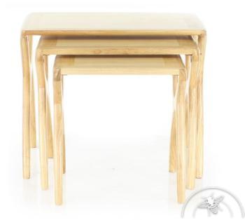 Tables gigognes bois naturel