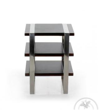 Table d appoint cuir noir