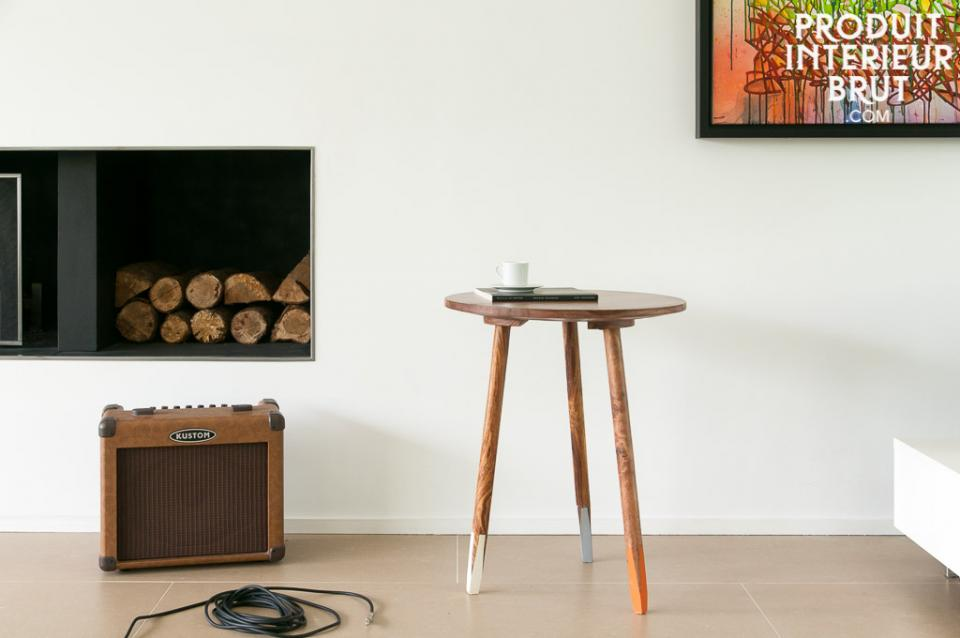 Table vintage d appoint scandinave