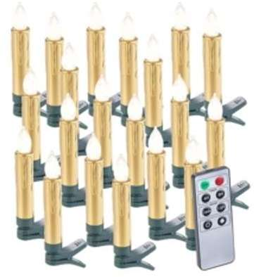 20 bougies LED pour sapin