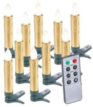 10 bougies LED pour sapin