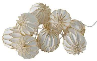 Guirlande origami 10 lumières