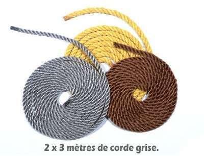 Corde pour hamac grise 8mm