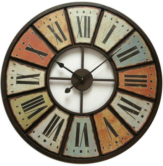 Catgorie horloges pendule et comtoise page 12 du guide et comparateur d 39 achat for Horloge murale multicolore
