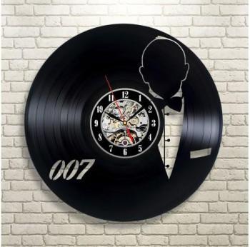 Horloge Vinyle James Bond