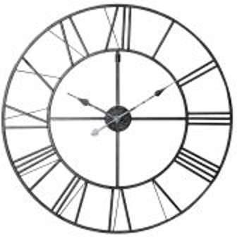 Horloge en métal noir D 80