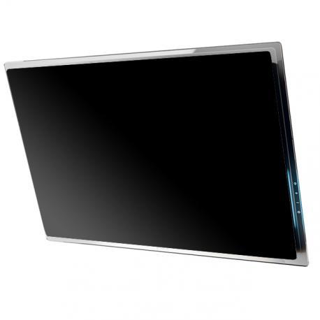 Hotte d corative elica elle 80cm verre blanc ou noir - Hotte aspirante 80 cm de large ...