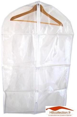 Housse transparente pour vêtements