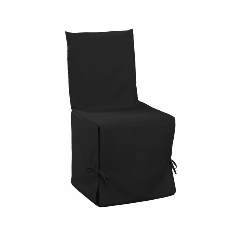 Housse Chaise Noire 50x50