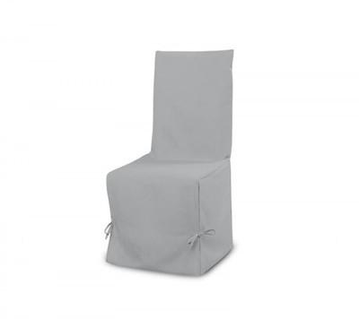 Housse chaise panama gris