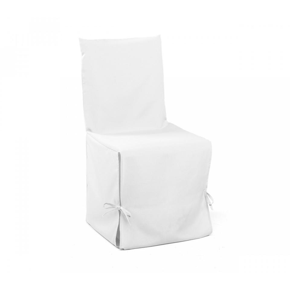 Housse Chaise Blanche 50x50