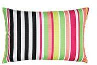 Housse coussin rayures imp