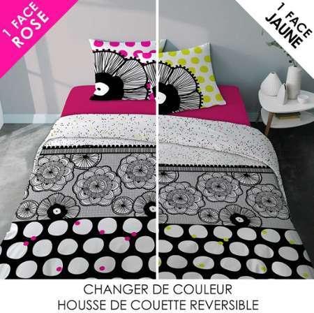 cti linge de lit parure hdc 140x200 to om logo. Black Bedroom Furniture Sets. Home Design Ideas