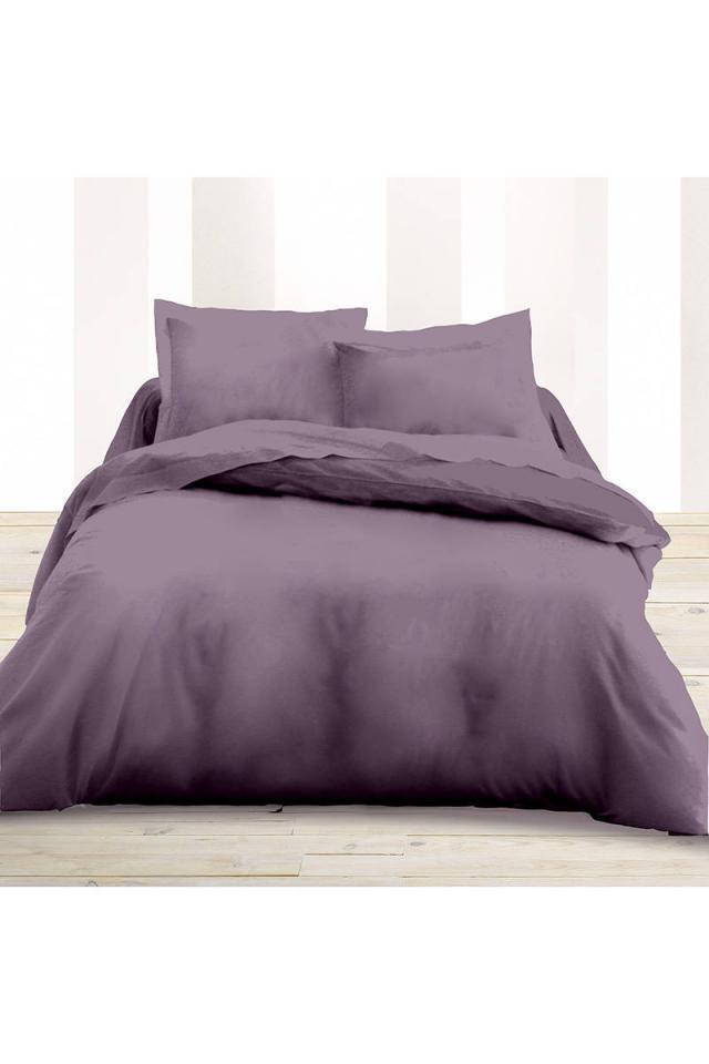 terre cdrap housse 100 coton parme bonnet 27 cm 180x200. Black Bedroom Furniture Sets. Home Design Ideas