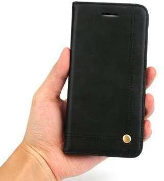 Etui porte-carte en cuir noir