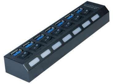 Hub 7 ports USB 3 0 avec interrupteurs