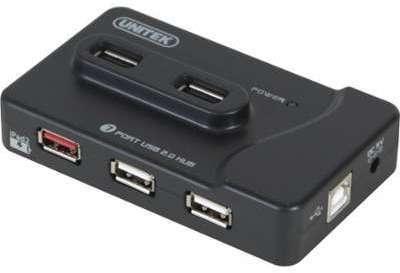 Hub USB 2 0 7 ports dont 1