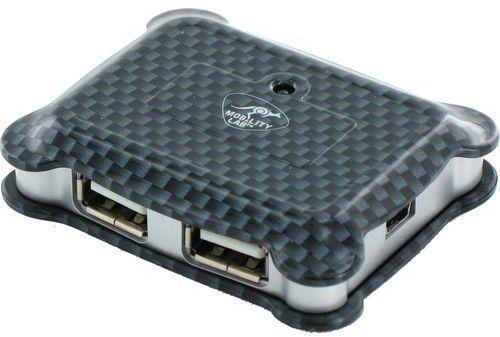 Microhub USB 2 0 4 ports carbone