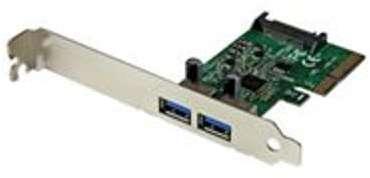 Carte USB3 1 à 2 ports - 2x