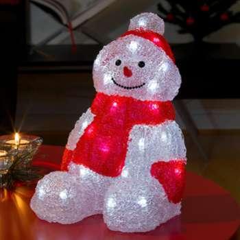 Bonhomme de neige LED assis