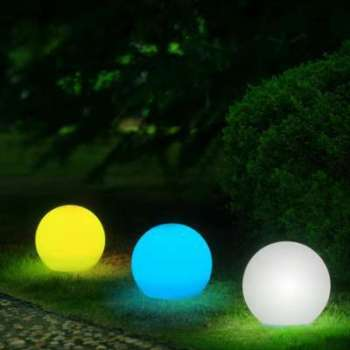 Boule solaire multicolore
